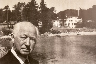 The Danish Hotel kingpin Axel Lund photgrahped at Strand Hotel Fevik which he built in 1937